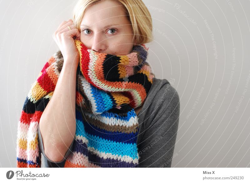 A Hurrah for the Cold Season - Knitted with Love Face Human being Feminine Young woman Youth (Young adults) 1 18 - 30 years Adults Winter Fashion Clothing Scarf