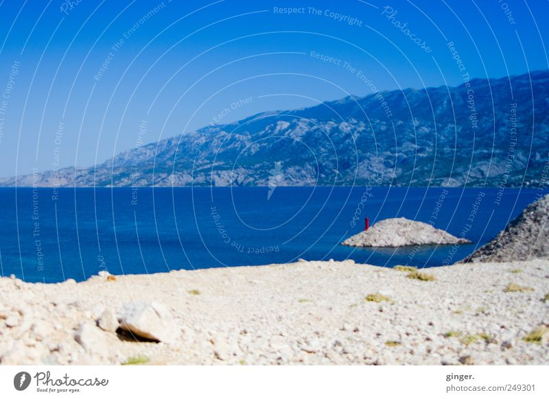 Dovidenja Hrvatska Vacation & Travel Tourism Summer Summer vacation Beach Ocean Island Waves Mountain Blue Beige Lighthouse Velebit Mountains Croatia Sparse