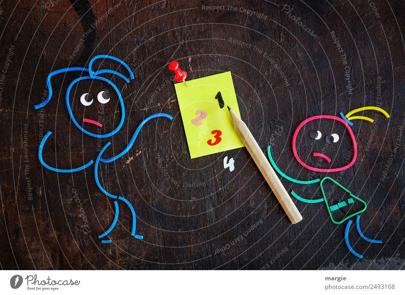 Rubber worms: Starting school Learning to calculate at school Parenting Education School Study Schoolchild Student Teacher Human being Masculine Feminine Child