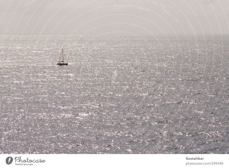 Sky Beautiful Water Summer Ocean Loneliness Relaxation Calm Clouds Swimming & Bathing Freedom Happy Horizon To enjoy Warm-heartedness Serene