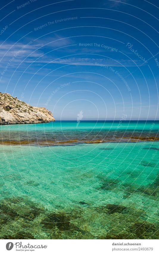 Sky Nature Blue Water Ocean Relaxation Calm Far-off places Environment Coast Horizon Beautiful weather Infinity Turquoise Mediterranean sea Majorca
