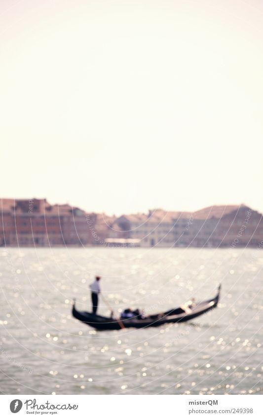 Water Ocean House (Residential Structure) Watercraft Art Esthetic Romance Italy Skyline Venice Gondola (Boat) Veneto Gondolier