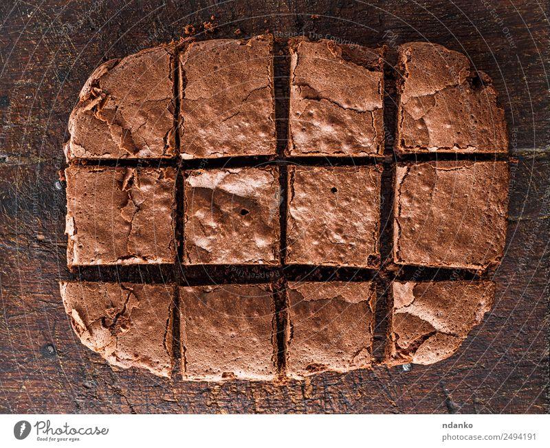 chocolate brownie pie Cake Dessert Candy Wood Dark Fresh Delicious Above Brown whole Pie background food sweet Sugar Baked goods Bakery Baking Tasty Snack