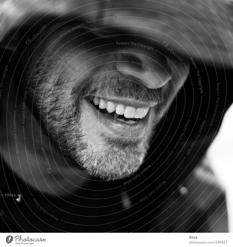Human being Beautiful Joy Happy Laughter Mouth Masculine Happiness Teeth Mysterious Friendliness Smiling Facial hair Joie de vivre (Vitality) Anonymous