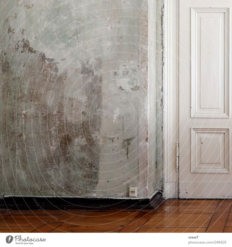 Old Wall (building) Wood Wall (barrier) Stone Line Door Room Flat (apartment) Concrete Authentic Gloomy Stripe Good Uniqueness Furniture