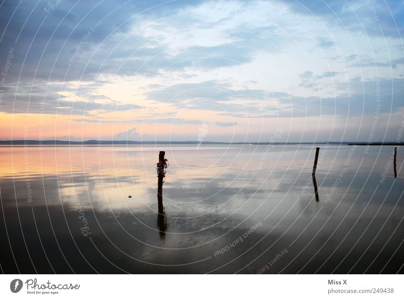 Water Beach Ocean Calm Relaxation Landscape Coast Weather Idyll Bay Lakeside River bank Wooden stake Burgen district