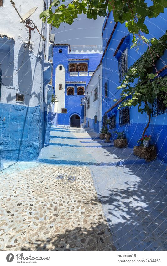 Chaouen the blue city of Morocco Vacation & Travel Old Blue Architecture Building Tourism Shopping Village Downtown Store premises Small Town City Vertical