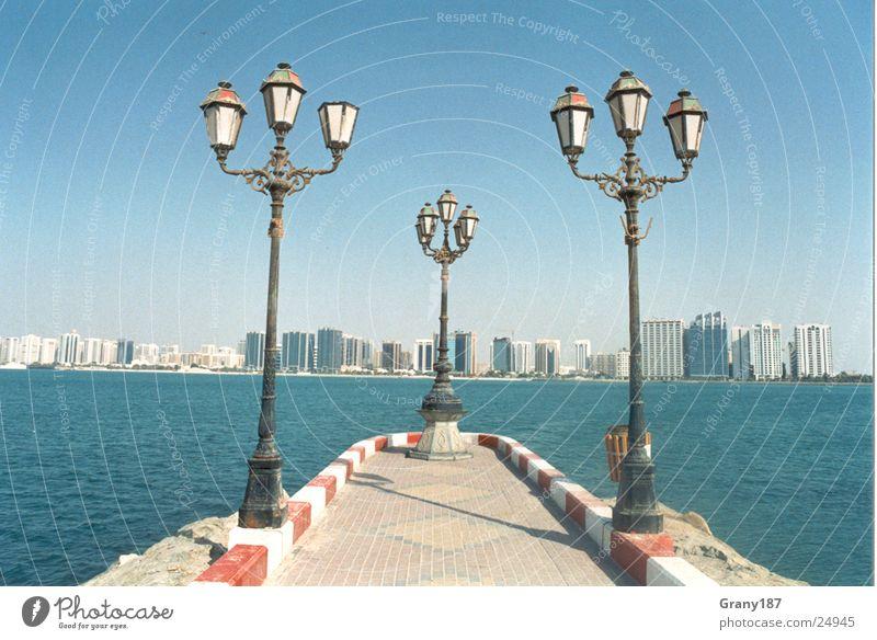 Ocean City Vacation & Travel Success Large Lantern Skyline Poster Copy Space Advertising executive Abu Dhabi
