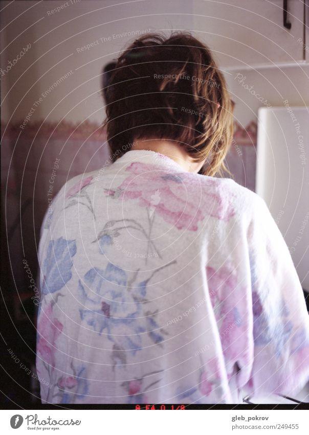Doc #0000 Flower Elegant Fresh Authentic Cool (slang) Clothing Simple Brunette Brash Sweater Russia Short-haired Utilize Dream house Flowery pattern