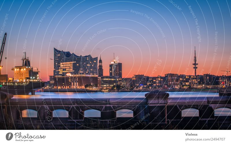 Most beautiful city Skyline XI Port City Harbour Tower Manmade structures Building Architecture Tourist Attraction Landmark Elbe Philharmonic Hall