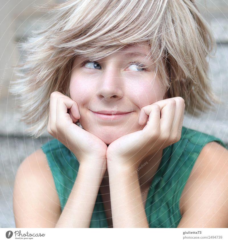 Child Human being Vacation & Travel Youth (Young adults) Young woman Summer Life Feminine Happy Exceptional Wild 13 - 18 years Dream Blonde Infancy Smiling