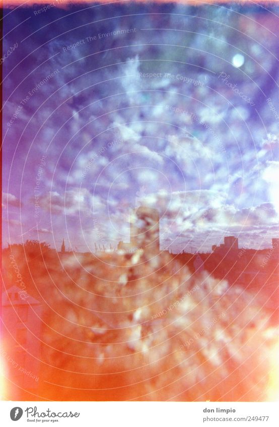 Clouds House (Residential Structure) Exceptional Illuminate Analog Double exposure Downtown Port City Mixed Light leak St. Pauli