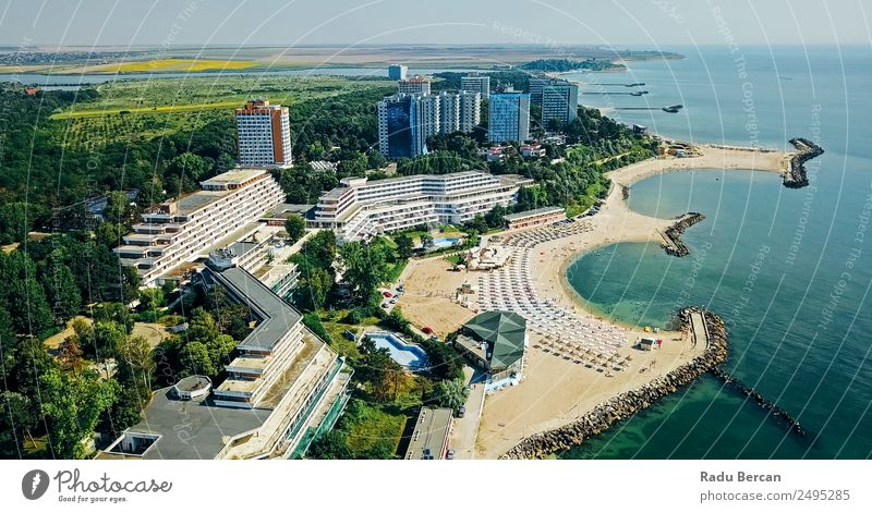 Aerial Drone View Of Neptun-Olimp Resort At The Black Sea Lifestyle Exotic Vacation & Travel Tourism Trip Adventure Freedom City trip Summer Summer vacation