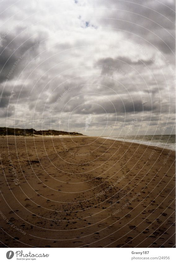 Endless Sylt Beach Clouds Advertising executive Poster Panorama (View) Vacation & Travel Autumn Nature Sky Sand Weather advertising material