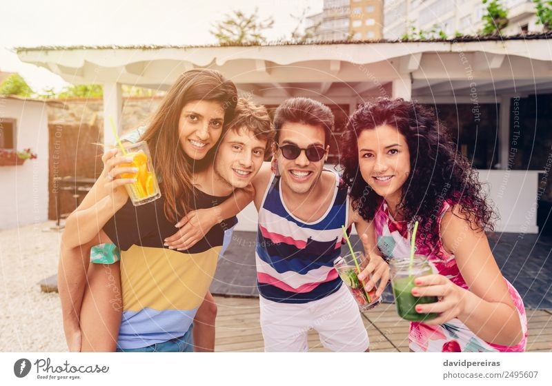 Group of people having fun in summer party Vegetable Fruit Beverage Alcoholic drinks Lifestyle Joy Happy Beautiful Leisure and hobbies Vacation & Travel Summer