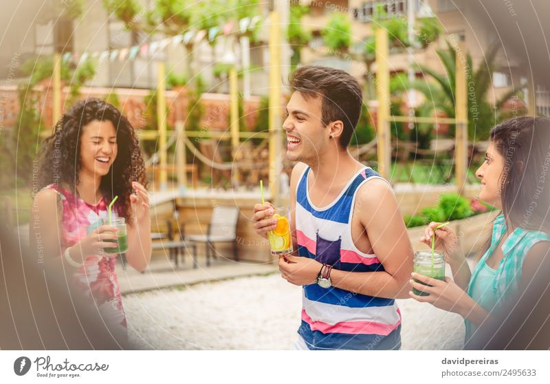 Group of young people laughing in summer party Woman Human being Vacation & Travel Man Summer Beautiful Green Joy Adults Lifestyle To talk Laughter Happy Garden