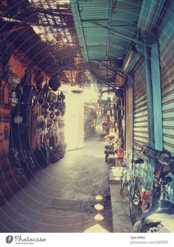 City Far-off places Lamp Moody Bright Retro Gate Store premises Trade Markets Marketplace Stagnating Corridor Passage Africa Morocco