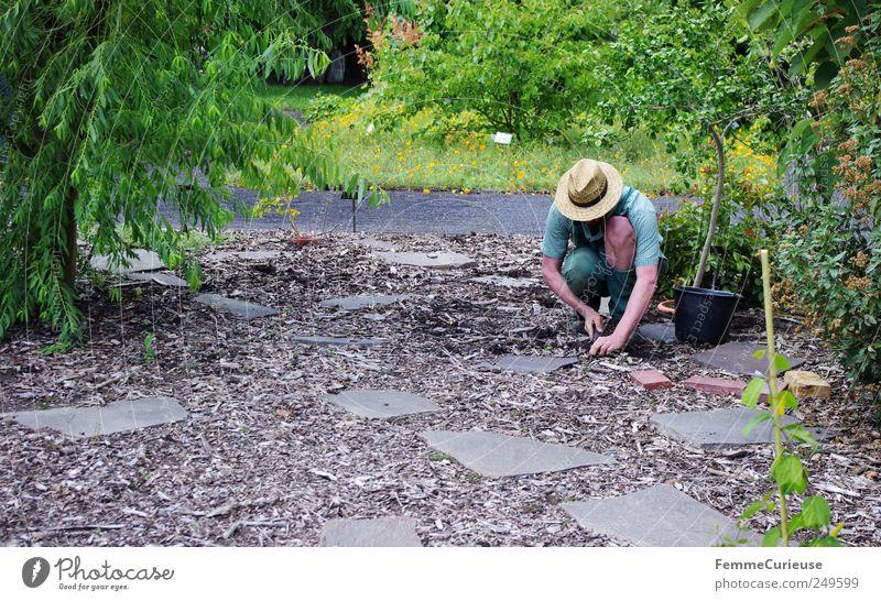 Human being Nature Man Plant Flower Adults Landscape Meadow Lanes & trails Sand Garden Park Earth Arm Masculine Bushes
