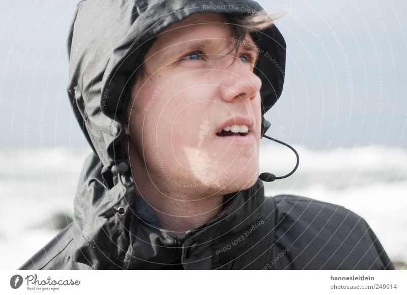 wind view Face Vacation & Travel Trip Far-off places Ocean Human being Masculine Young man Youth (Young adults) Head 1 18 - 30 years Adults Nature Wind Gale