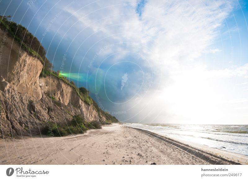 steep coast Vacation & Travel Tourism Trip Adventure Far-off places Summer Sun Beach Ocean Waves Environment Nature Landscape Clouds Horizon Wind Rain Coast