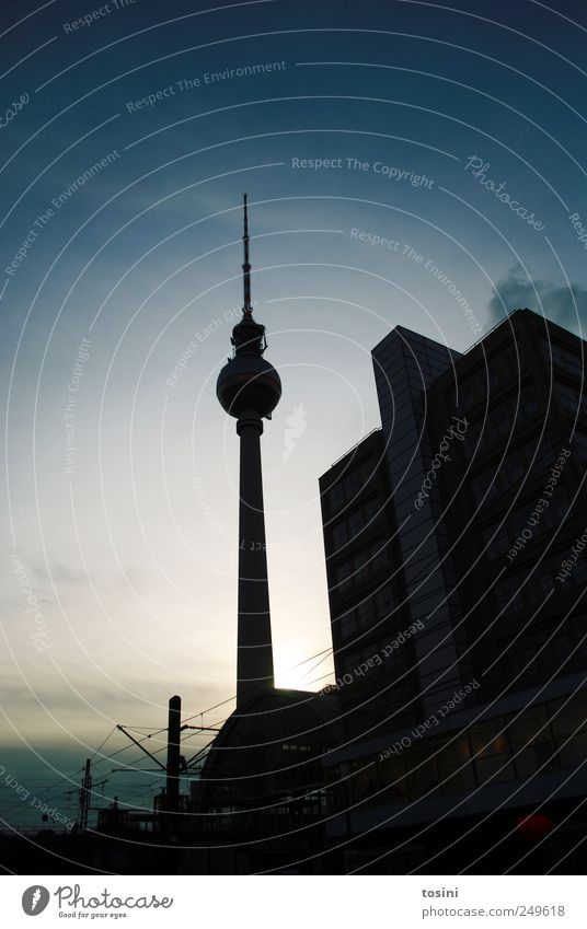 Blue City House (Residential Structure) Berlin Architecture Tower Manmade structures Landmark Capital city Tourist Attraction Berlin TV Tower Antenna