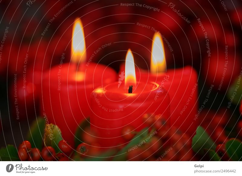 Christmas lighting Christmas & Advent Colour White Red Winter Dark Warmth Happy Feasts & Celebrations Design Decoration Table Candle Symbols and metaphors