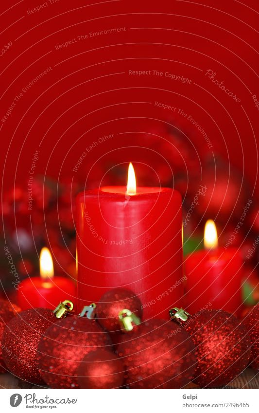 Christmas lighting Design Happy Winter Decoration Table Feasts & Celebrations Christmas & Advent Candle Ornament Dark Red White Colour Tradition christmas flame