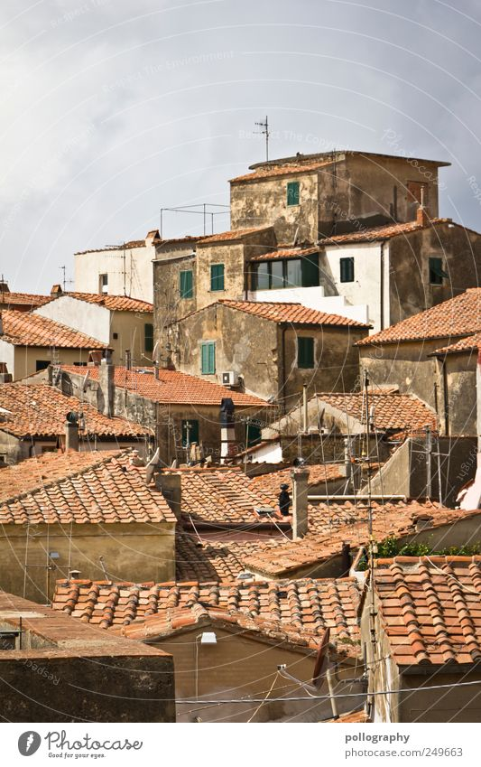 Old Vacation & Travel House (Residential Structure) Far-off places Window Flat (apartment) Trip Tourism Living or residing Culture Roof Protection Italy Village