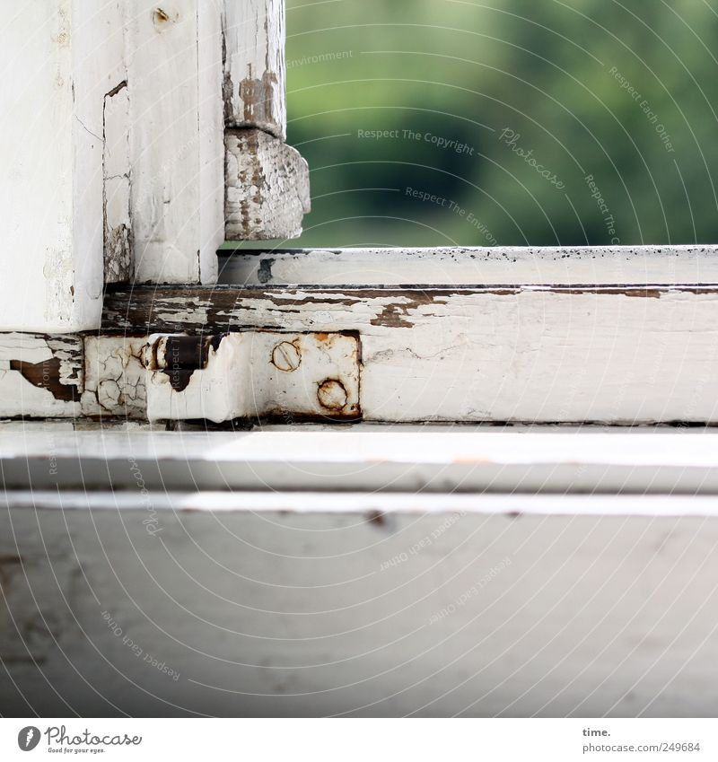 Old White Green Window - a Royalty Free Stock Photo from Photocase