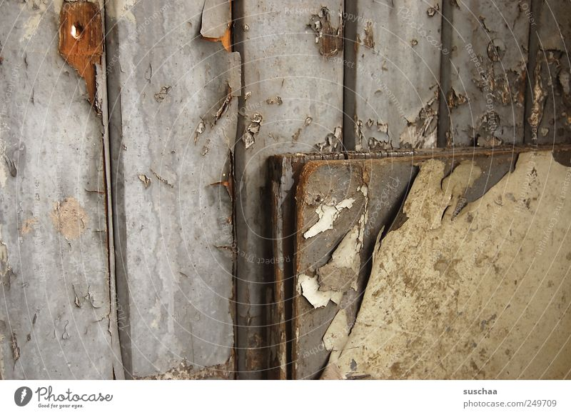 corner. Wood Old Poverty Dirty Broken Gloomy Gray Environmental pollution Decline Past Transience Change Destruction Varnish Flake off Derelict Subdued colour