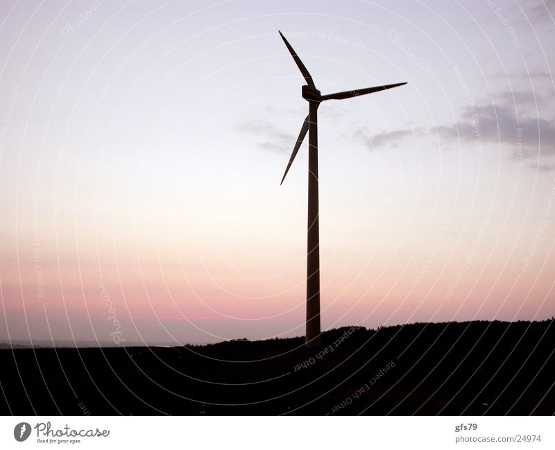The wheel Wind energy plant Sunset Science & Research Silhouette Sky Dusk