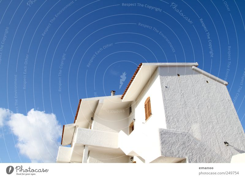 White Summer Vacation & Travel Clouds House (Residential Structure) Window Architecture Building Weather Facade Tall Stairs Large Illuminate Italy Village