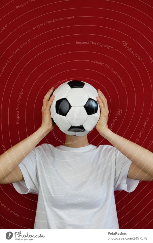 Woman Joy Emotions Sports Art Head Design Creativity Soccer Foot ball Kitsch Stress Chaos Concern Whimsical Work of art
