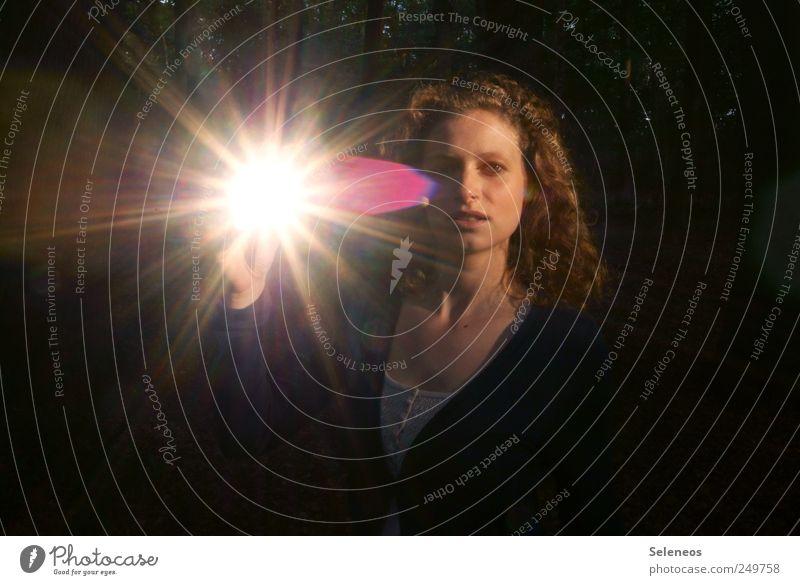 Human being Woman Summer Adults Face Feminine Hair and hairstyles Head Glittering Illuminate Curl Dazzle Sunbeam Portrait photograph