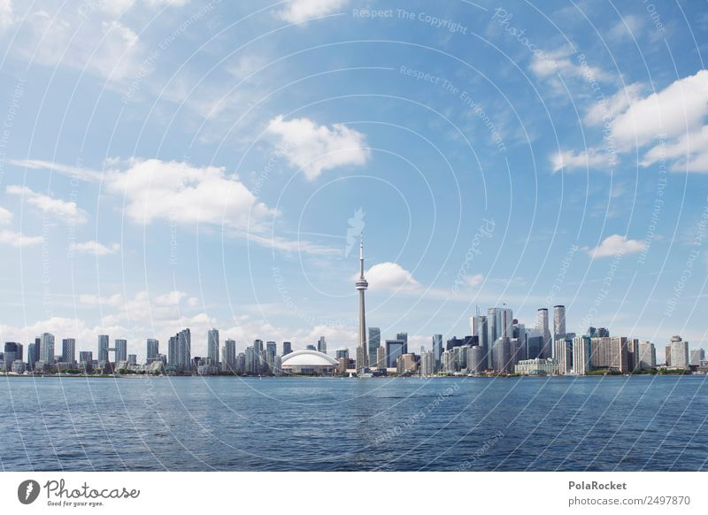 #A# Big Toronto Town Esthetic City Skyline Canada Tourism City trip Lake Modern Modern architecture Colour photo Multicoloured Exterior shot Deserted