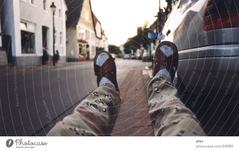 Blue Summer Street Relaxation Car Footwear Transport Sit Perspective To fall Stockings Drainage Camouflage Spoon bait Photographic technology Shuffle