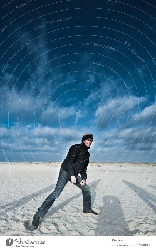 Spiekeroog ...felt 100 pictures. Nature Landscape Sand Sky Clouds North Sea Island Discover Blue Shadow Colour photo Exterior shot