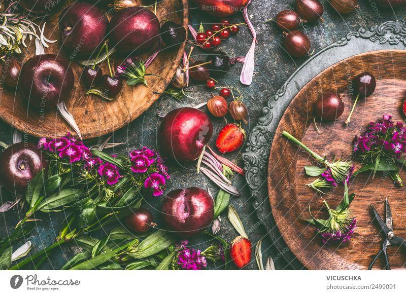 Summer seasonal fruit and berries Food Fruit Nutrition Organic produce Vegetarian diet Diet Crockery Plate Shopping Style Design Healthy Healthy Eating