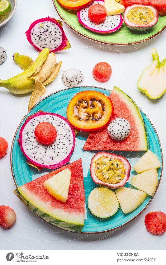 Summer Healthy Eating Food photograph Life Style Design Fruit Exotic Dessert Plate Vitamin Tropical Banana