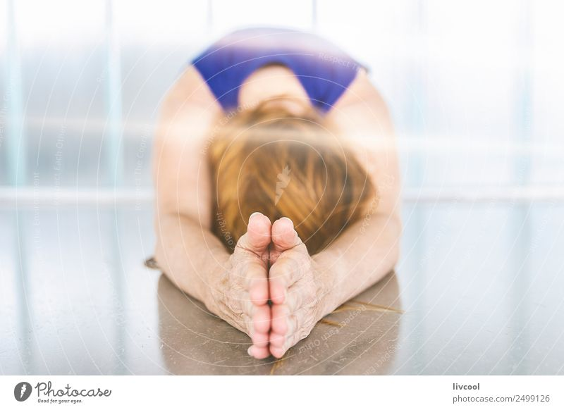 praying in the light Lifestyle Exotic Health care Harmonious Relaxation Calm Meditation Yoga Human being Feminine Woman Adults Female senior Body Hand 1