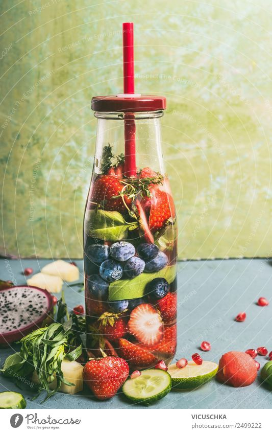 Healthy Eating Summer Water Food Style Fruit Design Nutrition Fitness Drinking water Beverage Organic produce Vegetarian diet Diet Berries