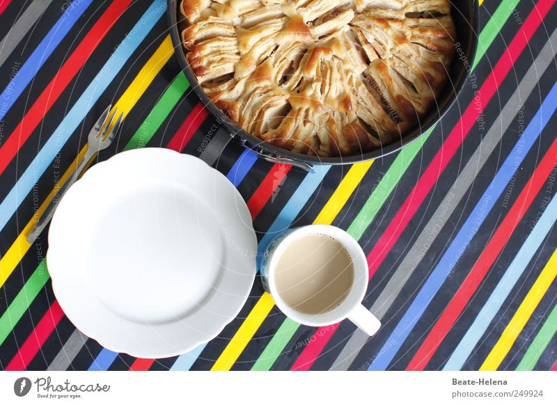 Blue Green Red Black Yellow Food Contentment Nutrition To enjoy Round Coffee Drinking Apple Fragrance Cake Cup