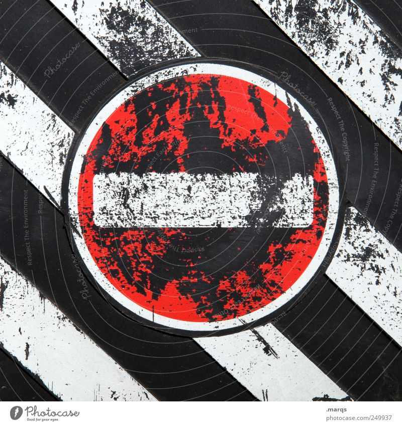 Old White Red Black Style Lanes & trails Line Work and employment Signs and labeling Design Transport Stripe Driving Target Stop