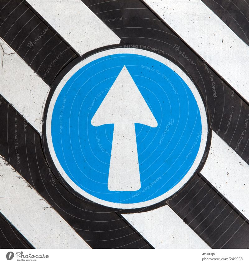 Blue White Black Style Lanes & trails Line Work and employment Signs and labeling Design Beginning Transport Growth Future Stripe Driving Target