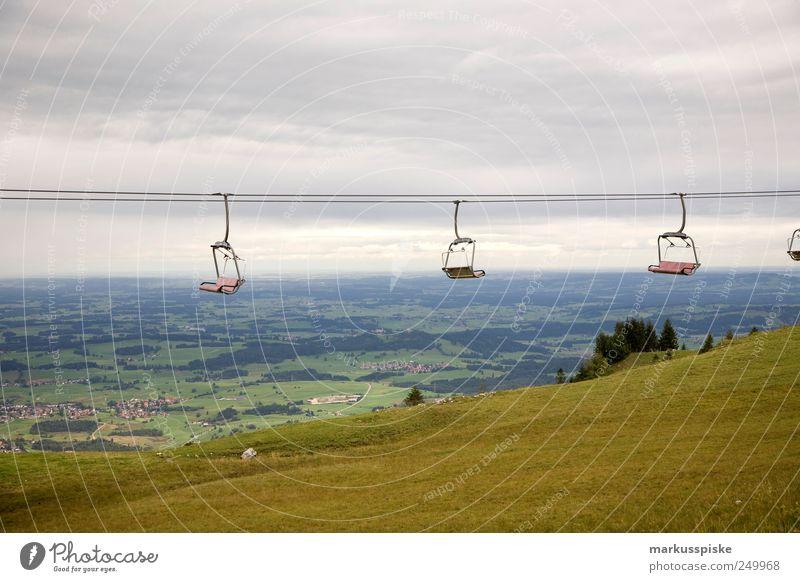 summer break Vacation & Travel Tourism Trip Far-off places Freedom Mountain Landscape Field Alps Bavaria Allgäu Allgäu Alps mountain of latitude Cable car