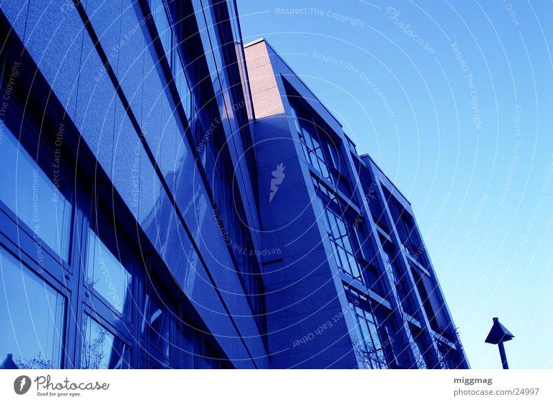 Sky Blue Window Cold Architecture Building Facade Modern Bank building Lantern Steel Granite