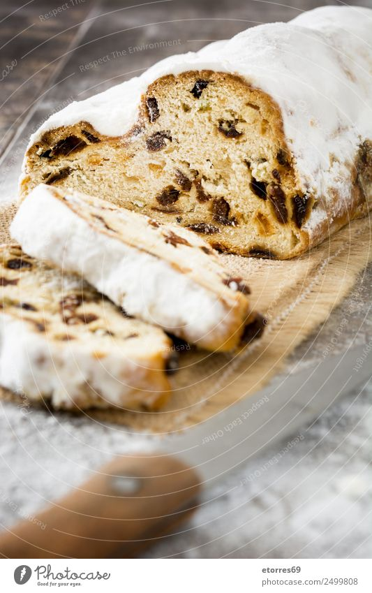 Christmas stollen. Christmas & Advent Anti-Christmas Stollen Dessert Sweet Candy Tradition Food Healthy Eating Dish Food photograph German Germans Baking