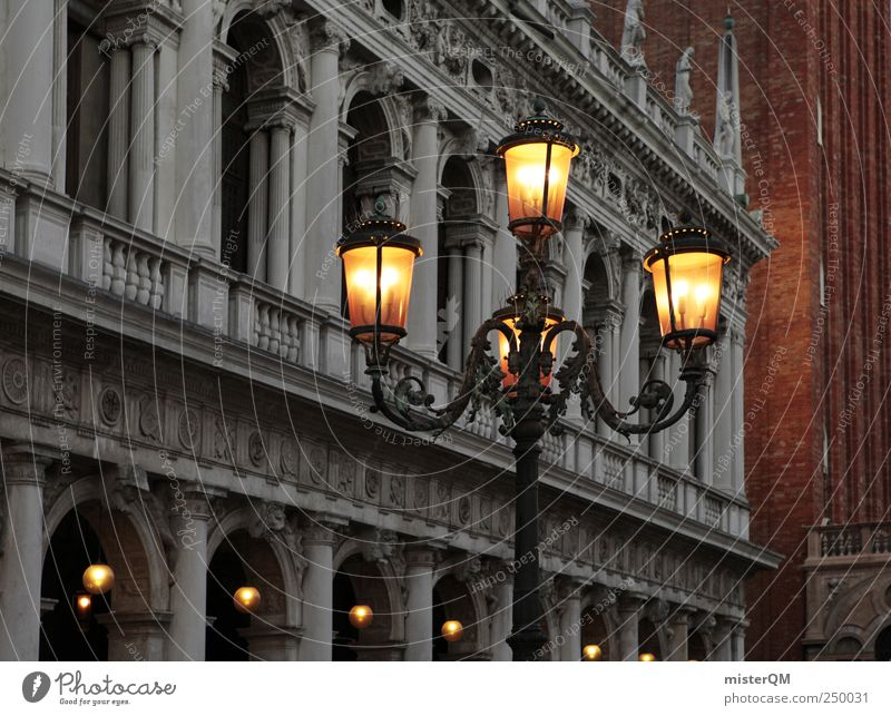 City Vacation & Travel Style Lighting Tourism Culture Italy Lantern Luxury Noble Tourist Attraction Venice Baroque Lamp post Royal City trip