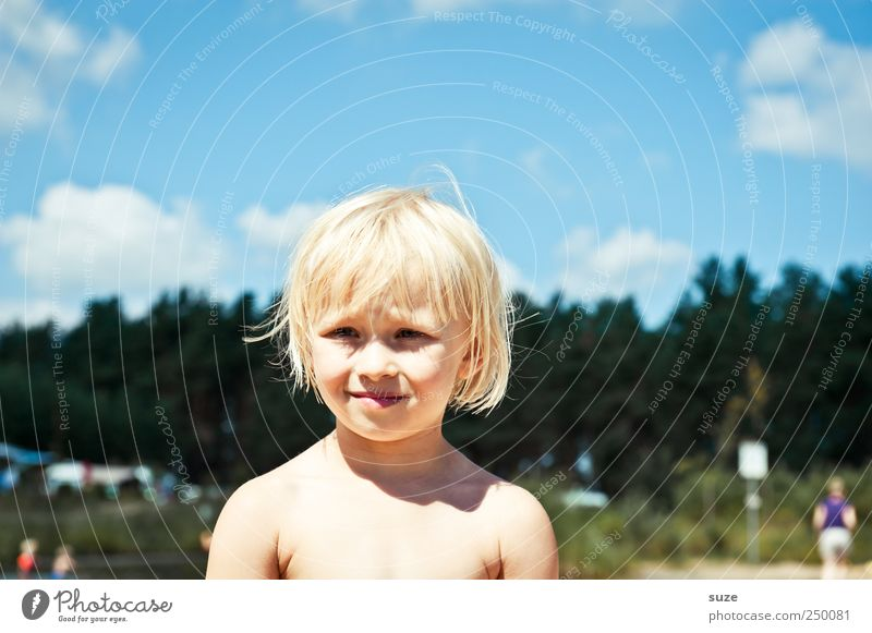 nice weekend Beautiful Hair and hairstyles Skin Face Vacation & Travel Human being Toddler Girl Boy (child) Infancy Head 1 3 - 8 years Child Sky Clouds Tree