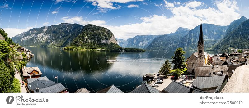 Panorama over Lake Hallstatt Vacation & Travel Tourism Trip Far-off places Freedom Sightseeing City trip Cruise Mountain Hiking Environment Nature Summer